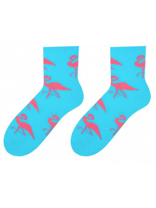 Damen Socken Flamingo More - Türkis