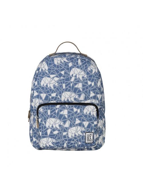 Blauer Rucksack mit Bär The Pack Society