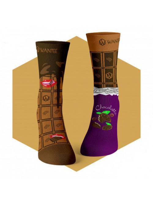 Socken Schokolade Wantee