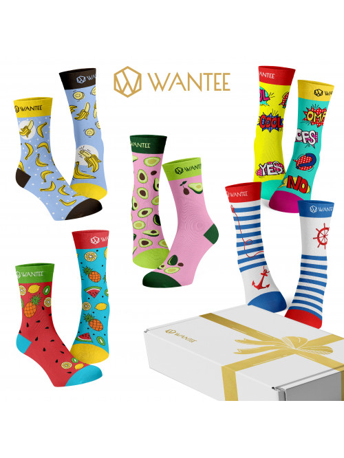 Wantee-Socken Fresh 5-Pack Geschenkbox