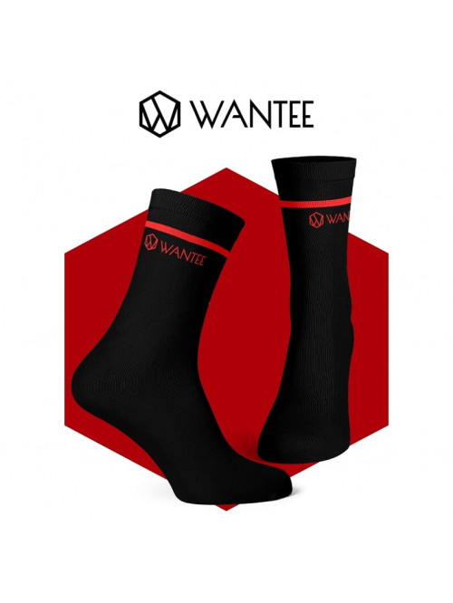 Socken Basic Black and Red Wantee