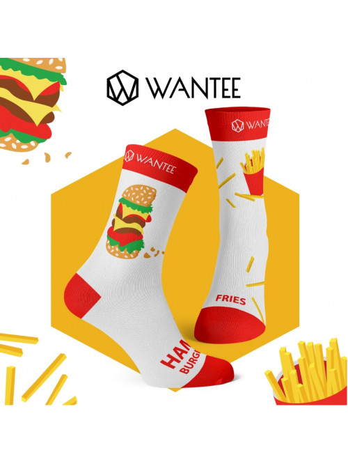Socken Hamburger und Pommes Wantee