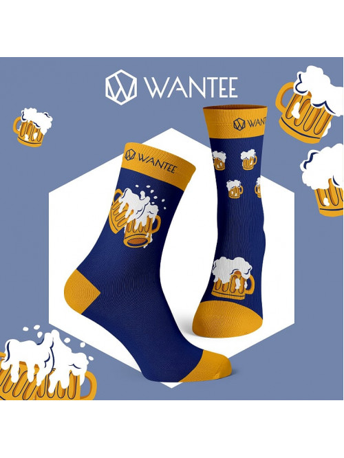 Socken Bierliebhaber Wantee